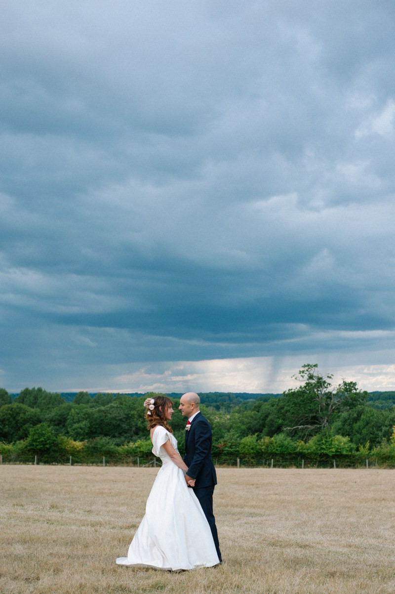 Beautiful wedding in the apple orchard