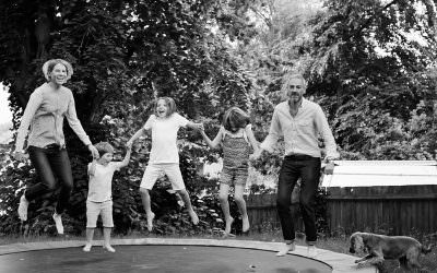Fun, family shoot in Highgate, London