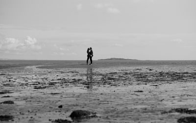 Engagement shoot on Cramond Beach, Edinburgh